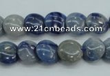 CSO80 15.5 inches 12mm flat round sodalite gemstone beads wholesale