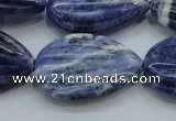 CSO83 15.5 inches 20*30mm teardrop sodalite gemstone beads wholesale