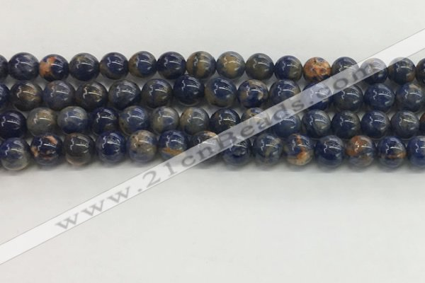 CSO832 15.5 inches 8mm round orange sodalite beads wholesale