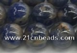CSO833 15.5 inches 10mm round orange sodalite beads wholesale