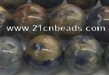 CSO834 15.5 inches 12mm round orange sodalite beads wholesale