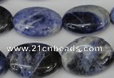 CSO92 15.5 inches 18*25mm oval sodalite gemstone beads