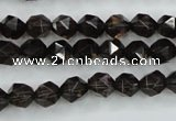 CSQ352 15.5 inches 8mm faceted nuggets smoky quartz beads