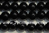 CSQ402 15.5 inches 8mm round black morion smoky quartz beads