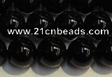 CSQ404 15.5 inches 12mm round black morion smoky quartz beads