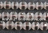 CSQ506 15.5 inches 6mm faceted round matte smoky quartz beads