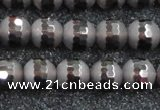 CSQ513 15.5 inches 10mm faceted round matte smoky quartz beads