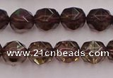 CSQ527 15.5 inches 8mm faceted nuggets smoky quartz gemstone beads