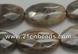 CSS109 15.5 inches 20*30mm faceted oval natural sunstone beads wholesale