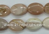 CSS205 15.5 inches 13*18mm oval natural sunstone beads