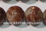 CSS557 15.5 inches 14mm round natural golden sunstone beads