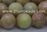 CSS617 15.5 inches 18mm faceted round yellow sunstone gemstone beads