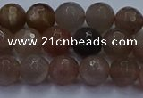 CSS642 15.5 inches 8mm faceted round sunstone gemstone beads