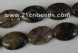 CST48 15.5 inches 13*18mm oval staurolite gemstone beads wholesale