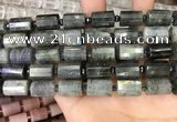 CTB209 15.5 inches 10*15mm faceted tube labradorite beads
