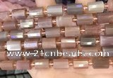 CTB224 15.5 inches 8*12mm faceted tube moonstone beads