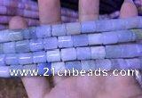 CTB250 15.5 inches 8*10mm tube natural aquamarine beads