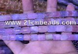 CTB253 15.5 inches 8*10mm - 8*12mm tube natural morganite beads