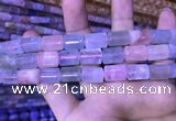CTB262 15.5 inches 9*11mm - 9*13mm triangle natural morganite beads