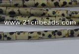 CTB305 15.5 inches 4*6mm tube dalmatian jasper beads wholesale