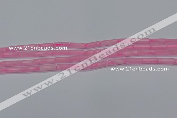 CTB311 15.5 inches 4*13mm tube rose quartz beads wholesale