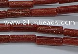 CTB328 15.5 inches 4*13mm tube goldstone beads wholesale