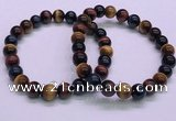 CTB36 7.5 inches 8mm round colorful tiger eye beaded bracelets