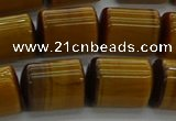 CTB540 15.5 inches 10*13mm triangle golden tiger eye beads wholesale