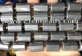 CTB658 15.5 inches 12*16mm faceted tube hematite beads