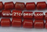 CTB709 15.5 inches 6*8mm tube red jasper beads wholesale