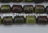 CTB713 15.5 inches 6*8mm tube dragon blood jasper beads wholesale
