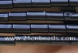CTB819 15.5 inches 2*4mm tube black agate beads wholesale