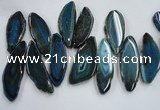 CTD1521 Top drilled 25*50mm - 30*60mm freeform agate slab beads