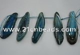 CTD1527 Top drilled 30*50mm - 35*75mm freeform agate slab beads