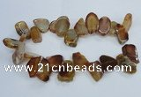 CTD1551 Top drilled 15*20mm - 25*30mm freeform agate slab beads