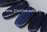 CTD1581 Top drilled 10*20mm - 12*35mm freeform lapis lzuli beads