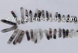 CTD1606 Top drilled 6*25mm - 8*50mm sticks botswana agate beads