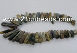 CTD1665 Top drilled 8*25mm - 15*50mm sticks agate gemstone beads