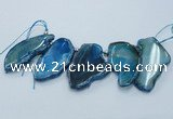 CTD1762 Top drilled 20*40mm - 35*55mm freeform agate slab beads