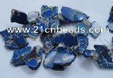 CTD1779 Top drilled 25*30mm - 40*50mm freeform sediment jasper beads