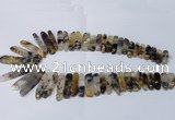 CTD1917 Top drilled 6*20mm - 10*60mm sticks montana agate beads