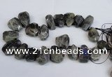 CTD2104 Top drilled 25*30mm - 28*40mm faceted nuggets labradorite beads