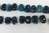 CTD2127 Top drilled 15*25mm - 18*25mm freeform agate beads