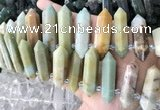 CTD2242 Top drilled 10*22mm - 12*45mm faceted nuggets amazonite beads