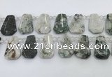 CTD2343 Top drilled 16*18mm - 20*30mm faceted freeform jade beads