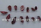 CTD2503 Top drilled 15*20mm - 25*35mm freeform druzy agate beads