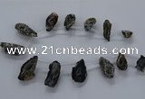 CTD2506 Top drilled 15*20mm - 25*35mm freeform druzy agate beads