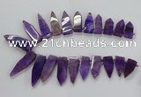 CTD2511 Top drilled 15*25mm - 16*50mm sticks agate gemstone beads