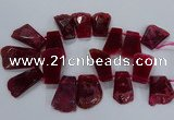 CTD2558 Top drilled 20*35mm - 30*45mm freeform agate gemstone beads