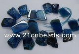 CTD2559 Top drilled 20*35mm - 30*45mm freeform agate gemstone beads